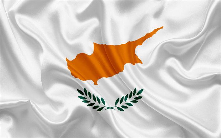 Herunterladen hintergrundbild flagge von zypern, europa, zypern, den weißen seidenen fahne