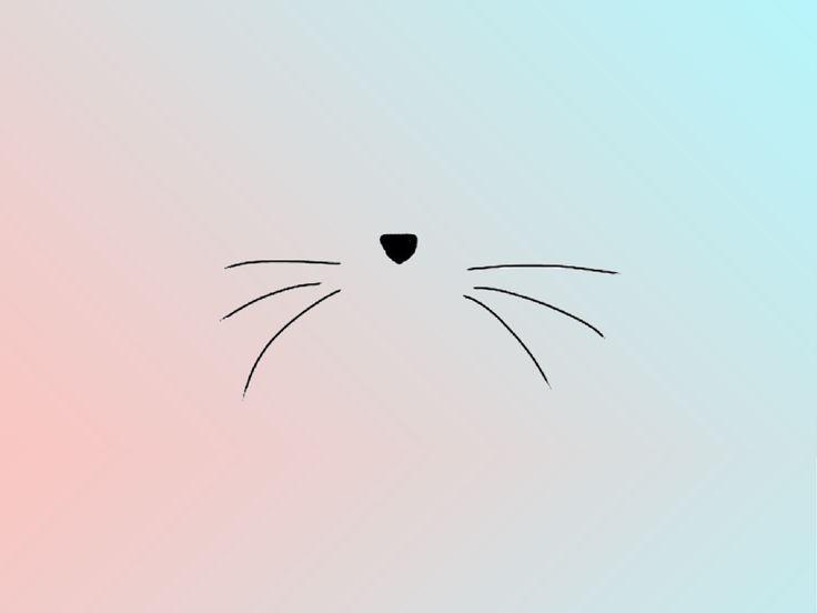 Adorable, simplistic kitty face!