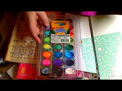 Mixed Media for Beginners LIVE Part 1 - YouTube