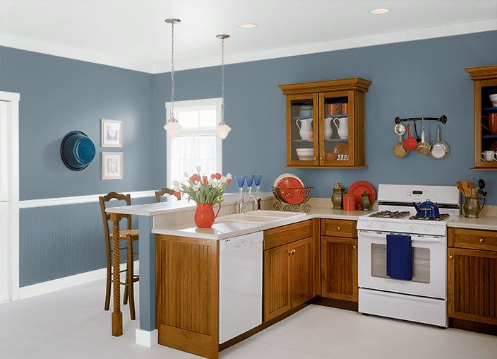 Lyric blue hdc ac 24 behr kitchen wall paint pinterest behr lyrics and kitchens - Behr kitchen paint colors ...