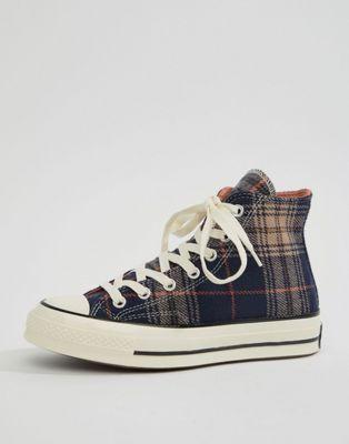 0d68d0e6abeac Converse - Chuck 70 - Baskets hautes - Bleu marine écossais