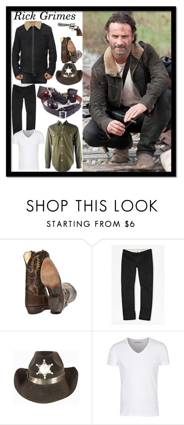 """Rick Grimes Costume"" by fjackets ❤ liked on Polyvore featuring French Connection and Inox"