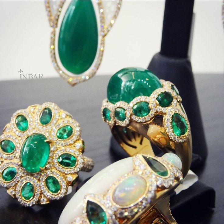 Beautiful balagan (of Inbar rings)  #emeralds#diamonds#opal#garnet#motherofpearl#sparkle#instore#cabochon#marquise#round#balance#beautiful#balagan#yellowgold#Гранат#tuesdayinlove#tuesdayspecial#tuesdaytreat#granate#smaragd#esmeralda#Émeraude#Smeraldo#Изумруд#أوبال