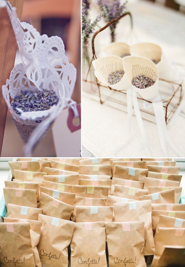 Los granos de lavandas son especiales para una boda con estilo campestre, no solo otorgan color a la recepción de los novios, sino también un aroma ideal.