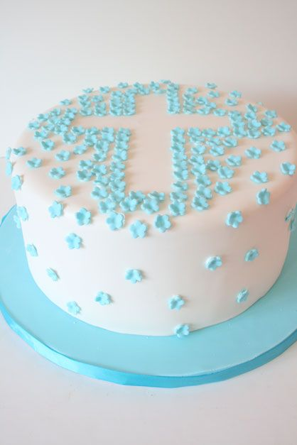 Baptism Cakes NJ - Blossoms Cross Custom Cakes