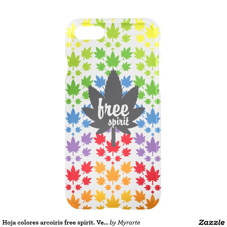 Hoja colores arcoiris free spirit. Vector plant. Producto disponible en tienda Zazzle. Tecnología. Product available in Zazzle store. Technology. Regalos, Gifts. Link to product: http://www.zazzle.com/hoja_colores_arcoiris_free_spirit_vector_plant_iphone_7_case-256080549726259580?CMPN=shareicon&lang=en&social=true&rf=238167879144476949 #carcasas #cases #marihuana #cannabis