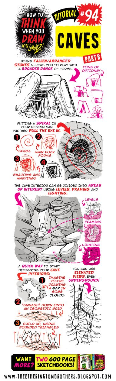 Today's tutorial is on how to draw CAVES! I recommend combining this with my How to draw ROCK FORMATIONS , How to draw IN 3D and How to ...
