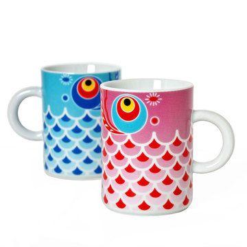 Koi Fish Mug Set Of 2, $21, now featured on Fab.