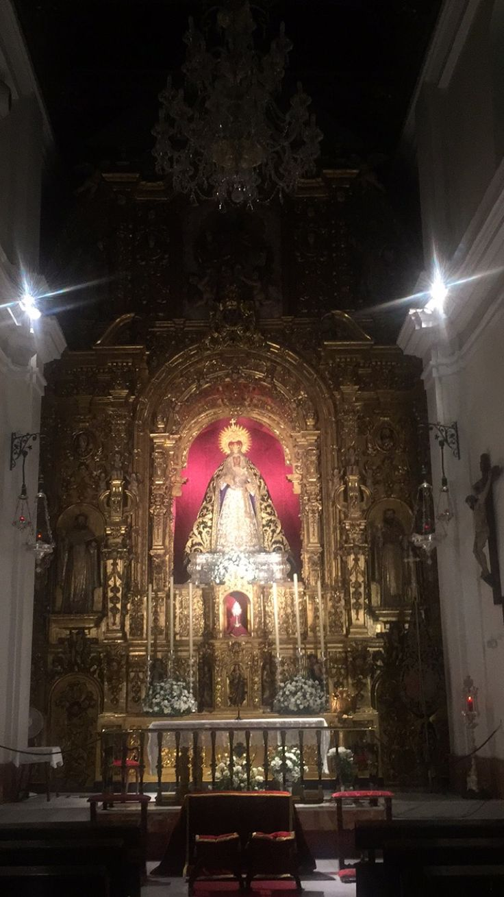 I took this picture while in Sevilla. While it is not displayed outside, The Virgin of Hope of Macarena is open to the public and during the Holy Week hundreds of people will line the streets to watch it being carried around. It is truly one of the most revered icons, a national treasure.