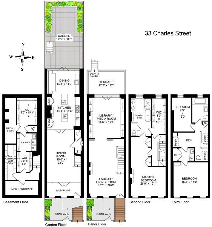 Elegant West Village Townhouse With Celebrity Pedigree Sells For 10 5m West Village Townhouse Townhouse West Village