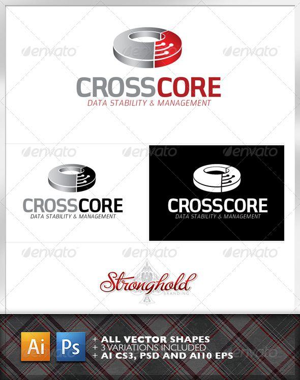 Cross Core Data Technology Logo Template