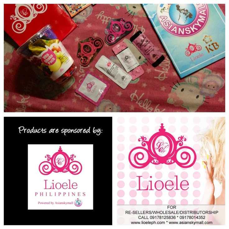 Lioele products for review. Sponsored by Lioele Philippines