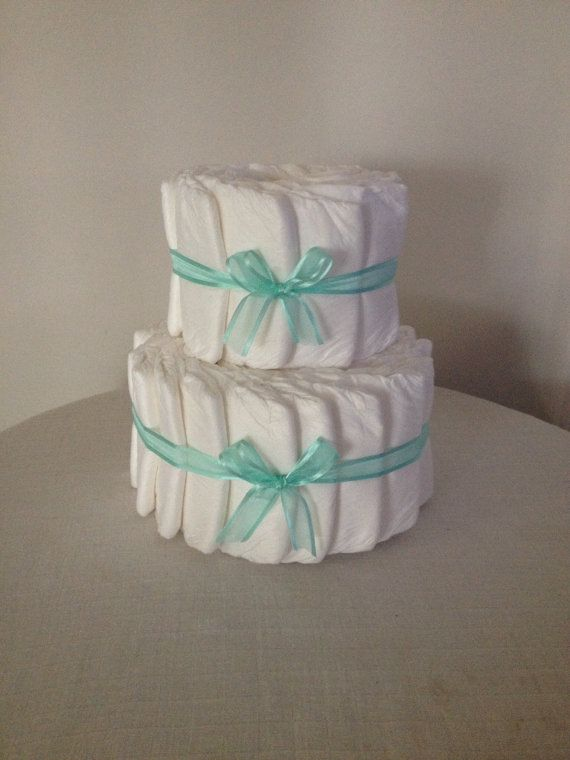 Decorate it yourself 2 tier Nappy Cake by HolliesNappyCakes