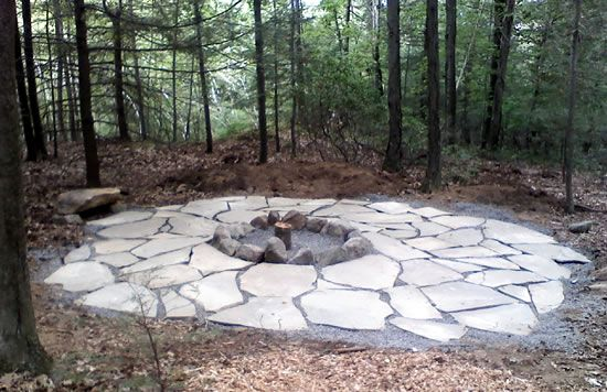 fire pit in the woods | Outdoor Fire Pits – Stone Fire Pit Kits Installed by Masseo ...
