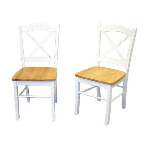 TMS Tiffany Dining Chair - Natural/White (Set of 2)