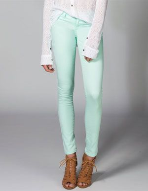 RSQ Miami Womens Jeggings MINT