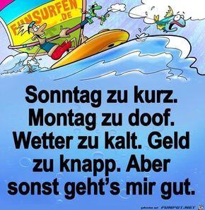 lustiges Bild 'Sonntag zu kurz - Montag....jpg'