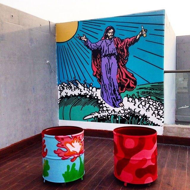 Mural de Fran Vilches, Restorán Sarita Colonia