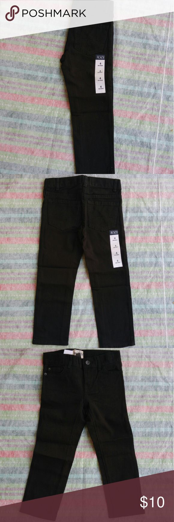 Children's Place Boys Skinny Black Wash Denim Little boys black wash denim skinny jeans.  Size 4 Children's Place Bottoms Jeans