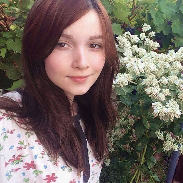 Katya and Flowers