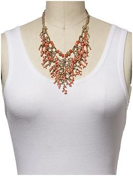 Sabine Coral Statement Necklace | Piperlime