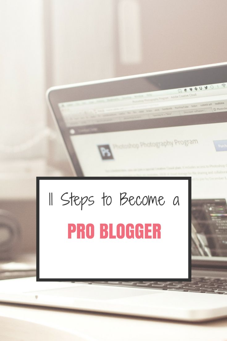 11 Steps to Become a Pro Blogger and start turning over profit for your blogging.