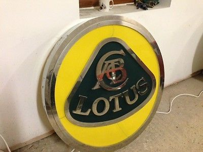 Lotus Dealership Signage, Genuine Item, Very Rare, Ideal For Lotus Car Collector    -