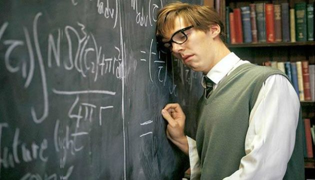 Cumberbatch as Stephen Hawking (Copyright: BBC)