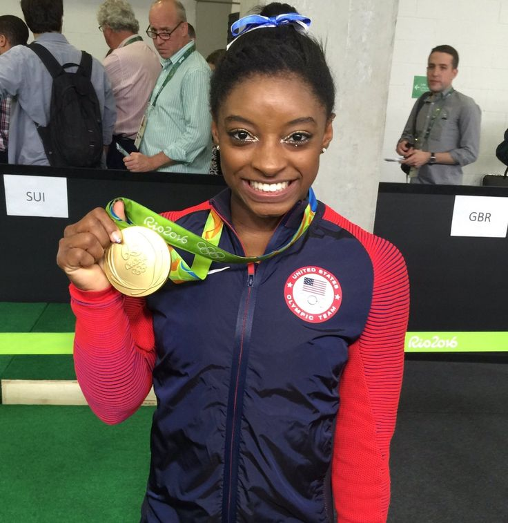 U.S. Olympic Team Retweeted  Amanda Borden ‏@AmandaKBorden  Aug 11 Congrats @Simone_Biles! The 3x World Champion is now an Olympic AA Champ!!!! 🙌  Westwood One Sports