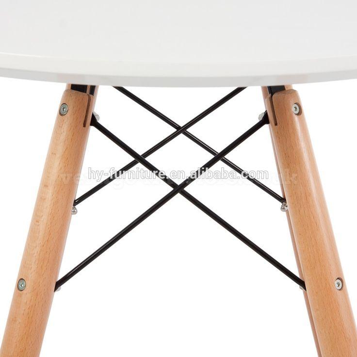 Pequeno jardim ao ar livre moderno mdf mesa de jantar de madeira da cozinha de jantar de luxo mesa de jantar redonda de plástico branco, mesa da sala de jantar