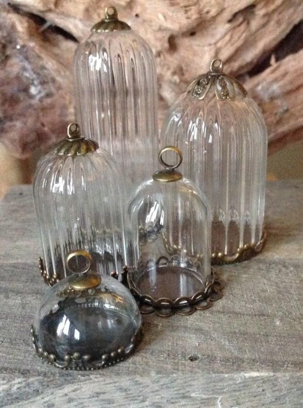 Set de luxe glazen stolpjes