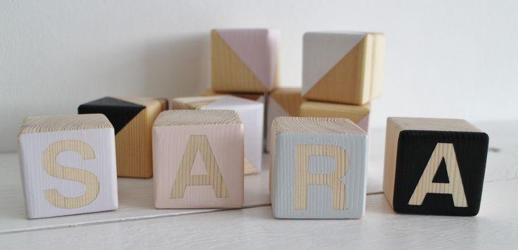 wooden blocks by manufaktura milo / pastelowe, drewniane klocki