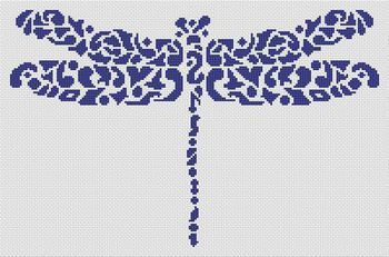 """Tribal Dragonfly - Cross Stitch Pattern. Would love to make for my step-daughter who's garden is called Dragonfly Farms."""""""