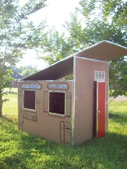 cardboard houseDuct Tape, Cardboard House, Cardboard Plays House, Cardboard Boxes, Apartments Therapy, Cardboard Playhouses, Kids, Outdoor Playhouses, Cardboard Fun