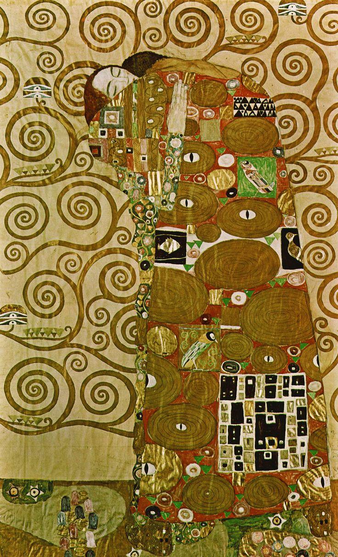 Gustav Klimt: Erfullung (Detail), 1905-09.
