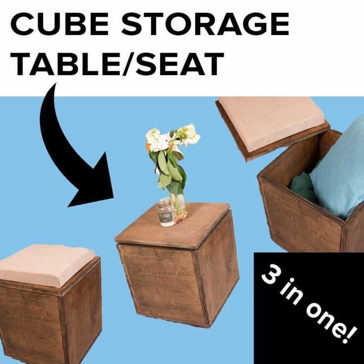 This Convertible Cube Seat Is Perfect For People With Small Apartments