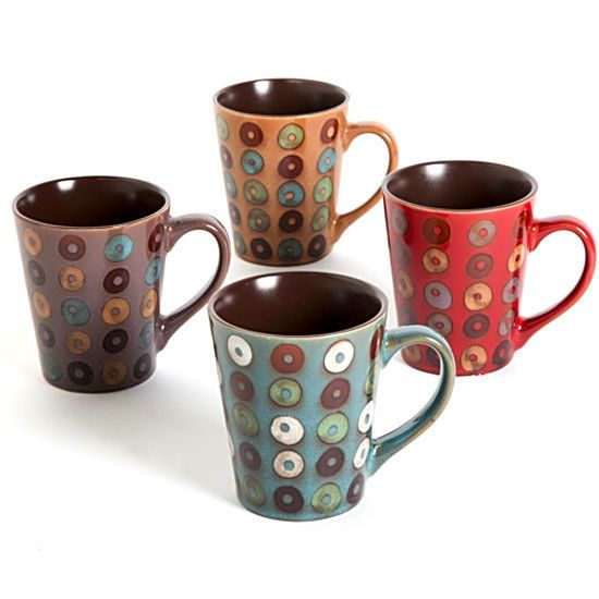 Set of 4 Coupa Cafe 13 oz Mugs Mothers Day Gift Top Quality Kitchen Drinkware #MrCoffee