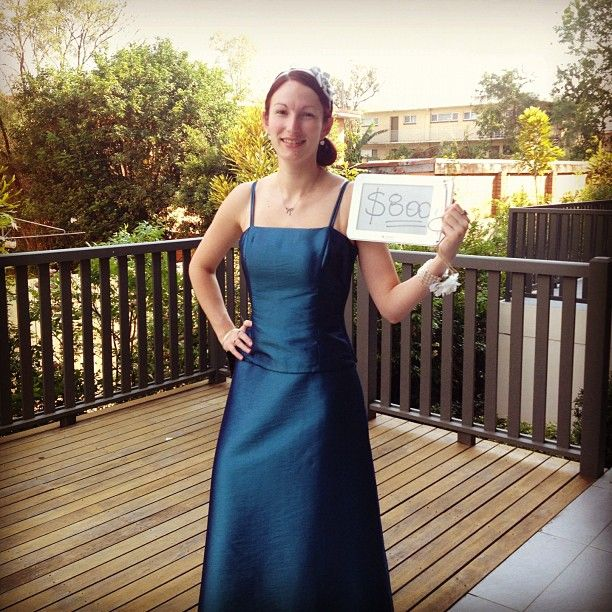 #frocktober day 22: dusted off the old formal dress in gratitude of $800 raised!! Just a little bit more and I'll dress up for Halloween!!