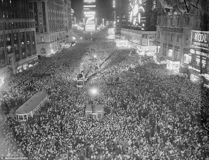 Image result for Times Square New Years Eve 1937""