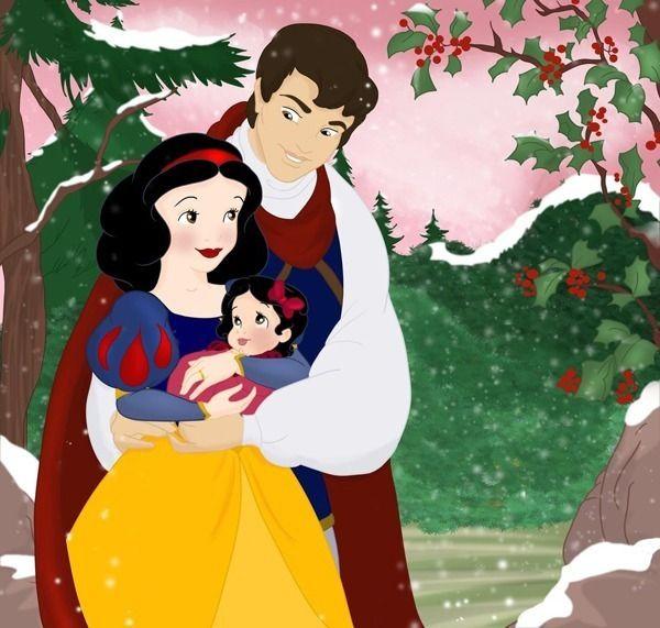 """O que significa """"viveram felizes para sempre""""? Para a Grodansnagel, ofinal feliz das personagens Disney tem a ver com a criação de novas famílias! Ela desenhou os casais mais queridos e seus filhos. O resultado disso são ilustrações super fofas e nenês engraçadinhos. E a criatividade daartista não parou aí: além dos desenhos, ela deu nomes às crianças relacionados à cultura dos personagens! Por exemplo, a filha do Aladdin chama-seIsra,que..."""