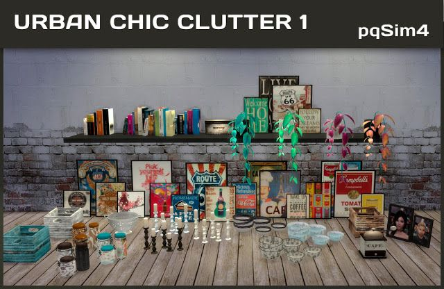 Sims 4 CC's - The Best: Urban Chic Clutter by pqsim4