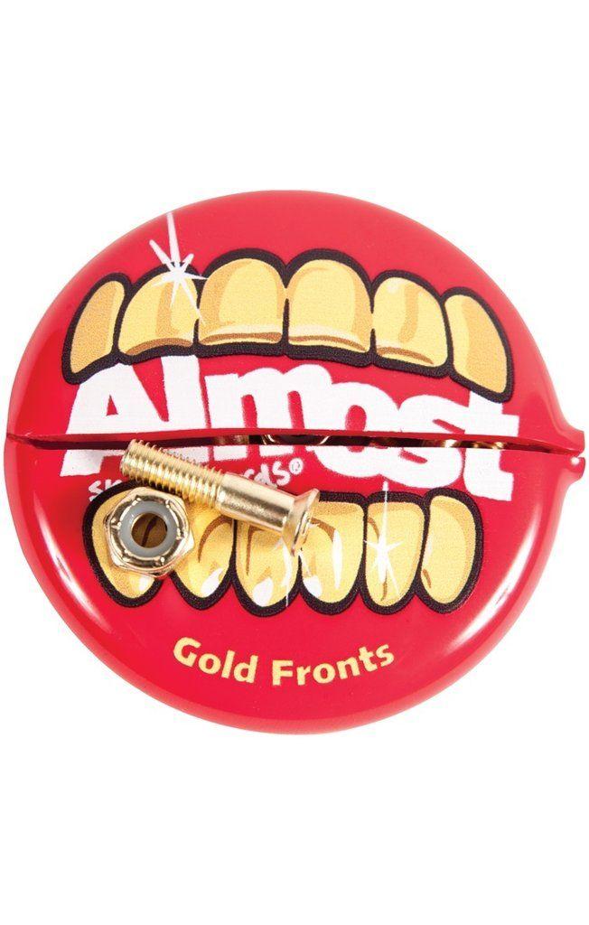 GOLD NUTS & BOLTS INYR MTH Skateboard Hardware