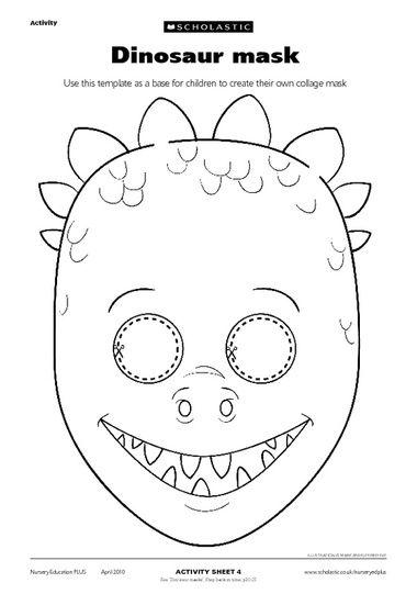 Kleurplaten Dino Masker.Kleurplaat Dino Masker Kleurplaat Dino Pinterest Kleurplatenl Com