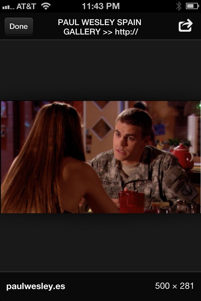 Paul Wesley on army wives