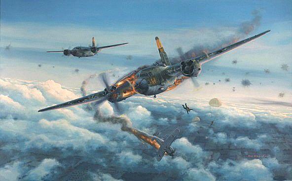 Martin B-26 Marauder in trouble   World War II and Korea ...  Martin B-26 Mar...