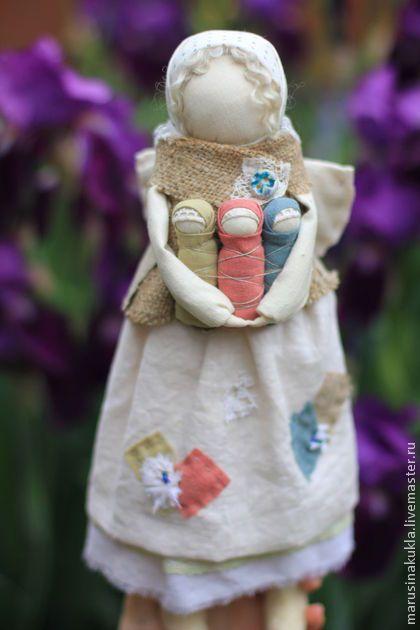 """Народные куклы ручной работы. Ярмарка Мастеров - ручная работа """"Ангел с детками"""". Handmade."""