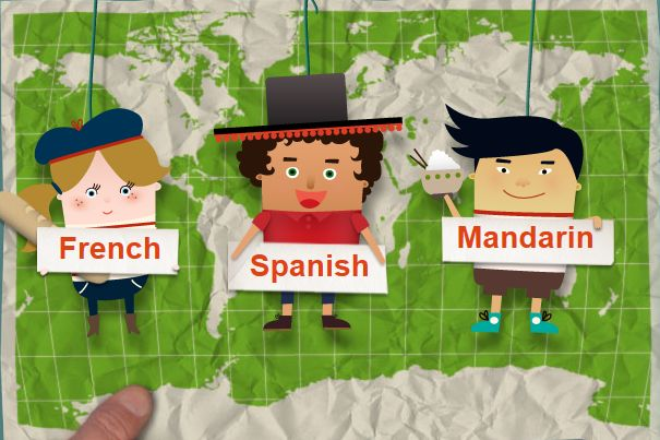 BBC: Primary Languages. Learn French, Spanish, or Mandarin. Breaks down languages into sections for easy learning. With links to videos and games. Can also check out link to BBC Languages for more advanced learners.