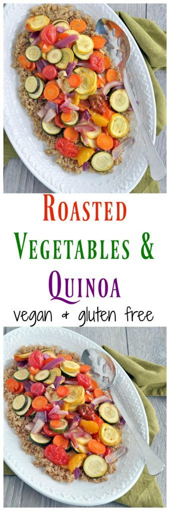 This Roasted Vegetables with Quinoa is a great way to use leftover vegetables. Any veggies work! Vegan, gluten free and very healthy!
