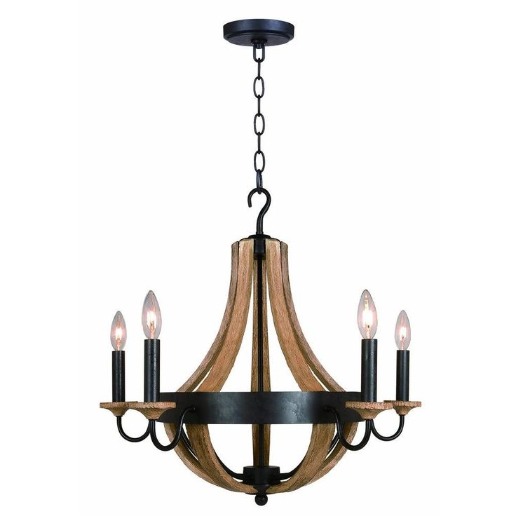 hampton bay talo 5light driftwood chandelier