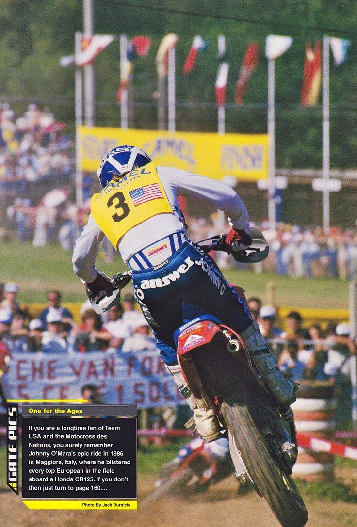 1986 O'Show Johnny O'mara MXDN Team usa, Johnny, Motocross